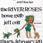 The River Roses/Howe Gelb/Jeff Colt flyer