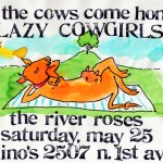 The River Roses/Lazy Cowgirls flyer