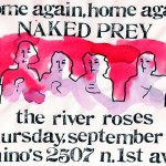 The River Roses/Naked Prey flyer