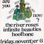 The River Roses/Infinite Beauties/Hoofbone flyer