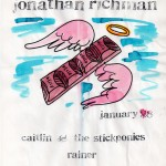 Caitlin & the Stickponies/Jonathan Richman/Rainer flyer