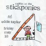 Caitlin & the Stickponies/Eddie Taylor flyer