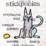 Caitlin & the Stickponies/Greyhound Soul/Maggie Golston flyer