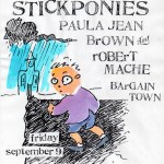 Caitlin & the Stickponies/Paul Jean Brown & Robert Mache/Bargain Town flyer