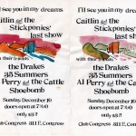 Caitlin & the Stickponies/the Drakes/35 Summers/Al Perry & the Cattle/Shoebomb flyer