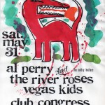 The River Roses/Al Perry & the Sultry Heifers/The Vegas Kids flyer