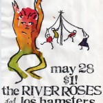 The River Roses/Los Hamsters flyer