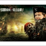 Boy's pirate birthday party invitation
