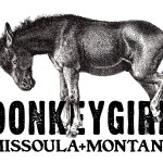 Logo for fashion designer DonkeyGirl of Missoula, MT