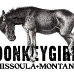 Logo for fashion designer DonkeyGirl of Missoula, MT