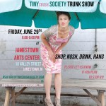 Invitation for TINYcrush Society trunk show/photo by Chattman Photography
