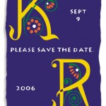 Wedding save-the-date for K & R